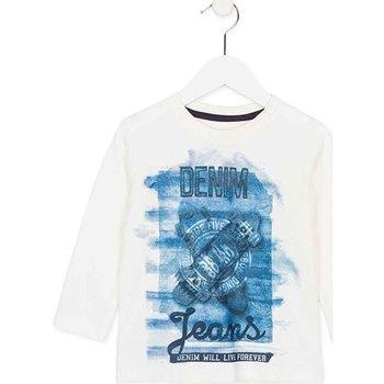 Abbigliamento Unisex bambino T-shirts a maniche lunghe Losan 725 1000AC Bianco
