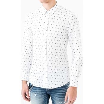 Abbigliamento Uomo Camicie maniche lunghe Antony Morato MMSL00425 FA430306 Bianco