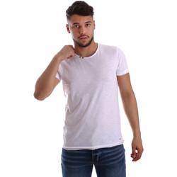 Abbigliamento Uomo T-shirt maniche corte Key Up 233SG 0001 Bianco