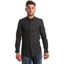 Abbigliamento Uomo Camicie maniche lunghe Antony Morato MMSL00428 FA430302 Nero