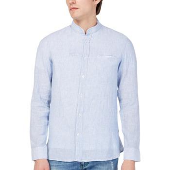 Abbigliamento Uomo Camicie maniche lunghe Gas 151228 Blu