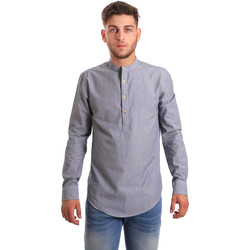 Abbigliamento Uomo Camicie maniche lunghe Ransom & Co. GAB-100 Blu