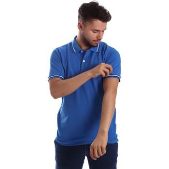 Abbigliamento Uomo Polo maniche corte Key Up 2Q70G 0001 Blu