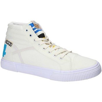 Scarpe Uomo Sneakers alte Gas GAM810152 Bianco