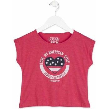 Abbigliamento Bambina T-shirt maniche corte Losan 814-1023AB Rosa
