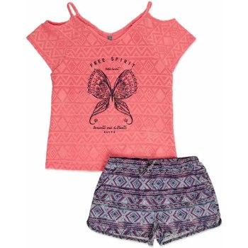 Abbigliamento Bambina Completo Losan 814-8022AB Rosa