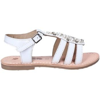 Scarpe Bambina Sandali Asso 65952 Bianco