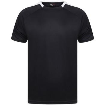 Abbigliamento T-shirt maniche corte Finden & Hales LV290 Blu navy/Bianco