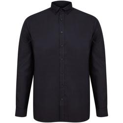 Abbigliamento Uomo Camicie maniche lunghe Henbury H512C Nero