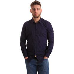 Abbigliamento Uomo Camicie maniche lunghe Gaudi 821BU45012 Blu