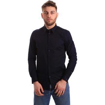 Abbigliamento Uomo Camicie maniche lunghe Gaudi 821BU45014 Blu