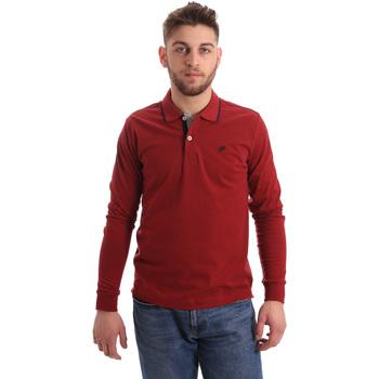 Abbigliamento Uomo Polo maniche lunghe Key Up 2RG71 0001 Rosso