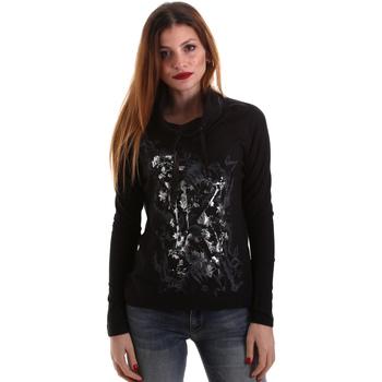 Abbigliamento Donna T-shirts a maniche lunghe Key Up 5VG84 0001 Nero