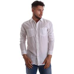 Abbigliamento Uomo Camicie maniche lunghe Gas 151150 Bianco