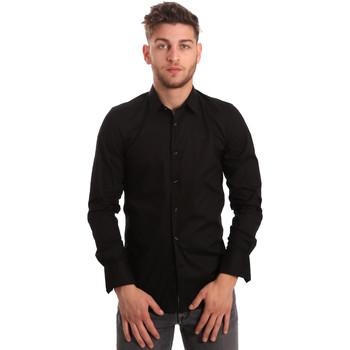 Abbigliamento Uomo Camicie maniche lunghe Antony Morato MMSL00375 FA450001 Nero