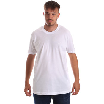 Abbigliamento Uomo T-shirt maniche corte Key Up 2M915 0001 Bianco