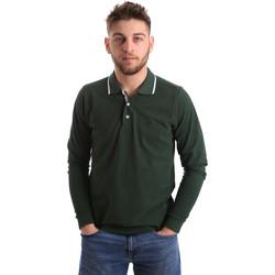 Abbigliamento Uomo Polo maniche lunghe Key Up 2L711 0001 Verde