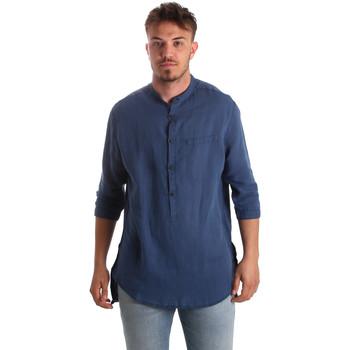 Abbigliamento Uomo Camicie maniche lunghe Antony Morato MMSL00531 FA400051 Blu