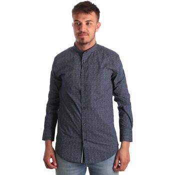 Abbigliamento Uomo Camicie maniche lunghe Antony Morato MMSL00532 FA430370 Blu