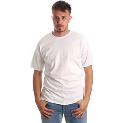 Abbigliamento Uomo T-shirt maniche corte Antony Morato MMKS01564 FA100189 Bianco