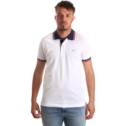 Abbigliamento Uomo Polo maniche corte Key Up 2Q62G 0001 Bianco