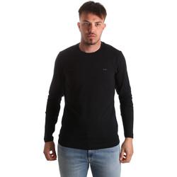 Abbigliamento Uomo T-shirts a maniche lunghe Key Up 2E96B 0001 Nero