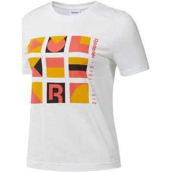Abbigliamento Donna T-shirt maniche corte Reebok Sport DY9368 Bianco
