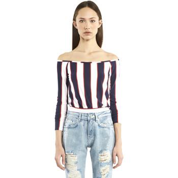 Abbigliamento Donna T-shirts a maniche lunghe Denny Rose 911DD60016 Blu