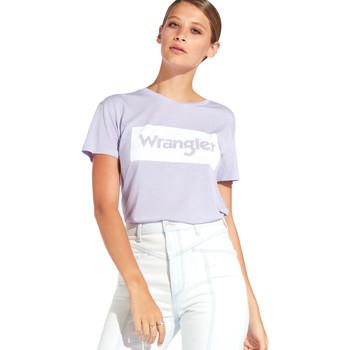 Abbigliamento Donna T-shirt maniche corte Wrangler W7016D Viola