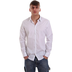 Abbigliamento Uomo Camicie maniche lunghe Gaudi 921FU45014 Bianco