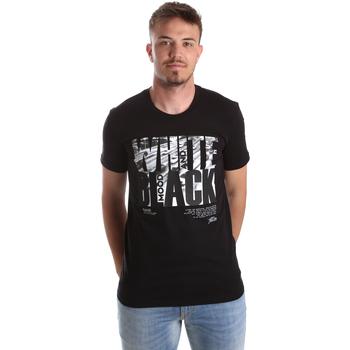 Abbigliamento Uomo T-shirt maniche corte Gaudi 921FU64006 Nero