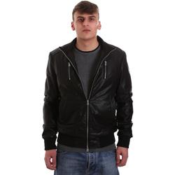 Abbigliamento Uomo Giacca in cuoio / simil cuoio Gaudi 921BU38001 Nero