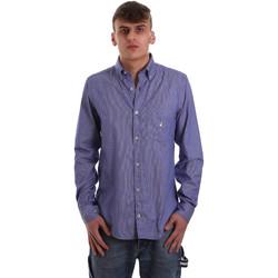 Abbigliamento Uomo Camicie maniche lunghe Navigare NV91068 BD Blu
