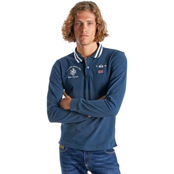 Abbigliamento Uomo Polo maniche lunghe La Martina OMP325 JS005 Blu