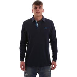 Abbigliamento Uomo Polo maniche lunghe La Martina OMP007 JS169 Blu