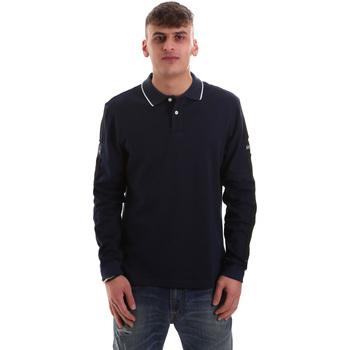 Abbigliamento Uomo Polo maniche lunghe La Martina OMPM36 JS169 Blu