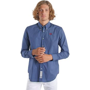 Abbigliamento Uomo Camicie maniche lunghe La Martina OMC015 PP461 Blu