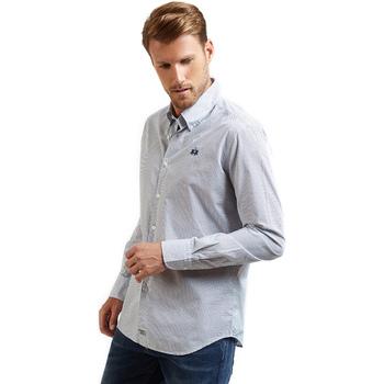 Abbigliamento Uomo Camicie maniche lunghe La Martina OMC016 PP462 Blu