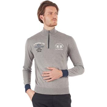 Abbigliamento Uomo T-shirts a maniche lunghe La Martina OMS317 YW025 Grigio