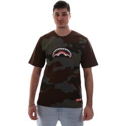 Abbigliamento Uomo T-shirt maniche corte Sprayground SP018SBRO Marrone