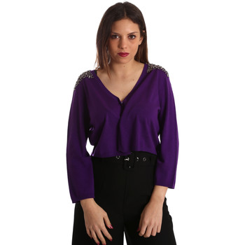 Abbigliamento Donna Gilet / Cardigan Gaudi 921FD53018 Viola