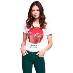 Abbigliamento Donna T-shirt maniche corte Gaudi 921BD64047 Bianco