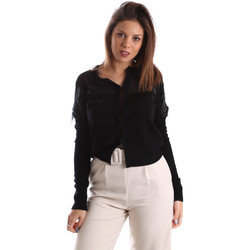 Abbigliamento Donna Gilet / Cardigan Fracomina FR19FMMARIELLA Nero