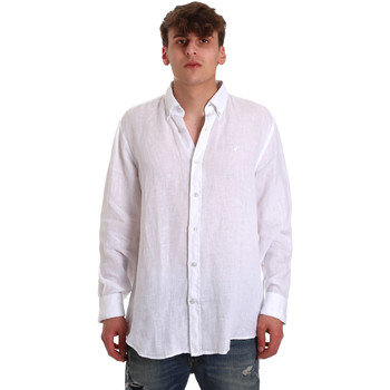 Abbigliamento Uomo Camicie maniche lunghe Navigare NV91108 Bianco