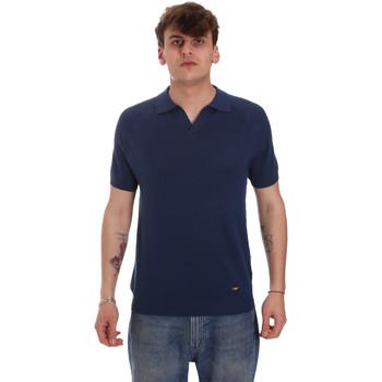 Abbigliamento Uomo Polo maniche lunghe Gaudi 011BU53010 Blu