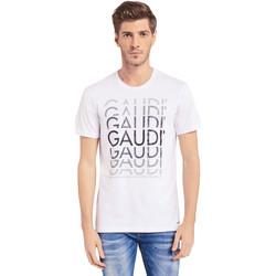 Abbigliamento Uomo T-shirt maniche corte Gaudi 011BU64068 Bianco