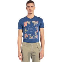 Abbigliamento Uomo T-shirt maniche corte Gaudi 011BU64070 Blu