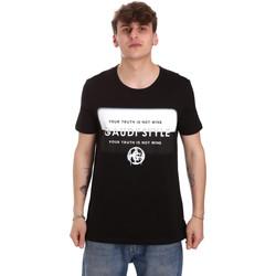 Abbigliamento Uomo T-shirt maniche corte Gaudi 011BU64108 Nero