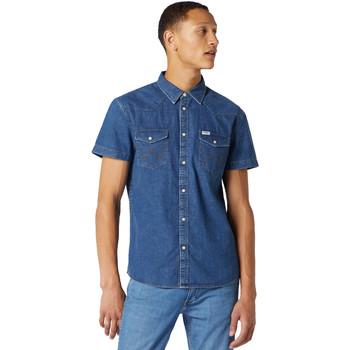 Abbigliamento Uomo Camicie maniche corte Wrangler W5J05D50B Blu