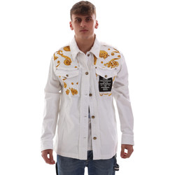 Abbigliamento Uomo Giacche Versace C1GVB92GHRC33003 Bianco